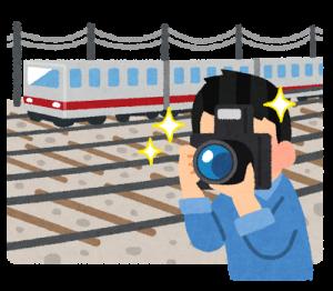 鉄道撮影のイラスト