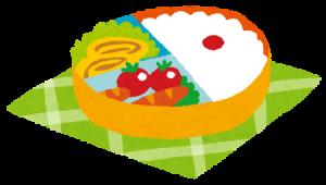 可愛くてカラフルなお弁当のイラスト
