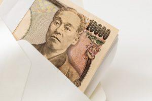 封筒に入った1万円札