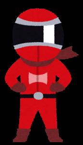 戦隊モノのキャラクター(レッド)
