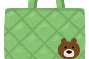 おけいこバッグのイラスト